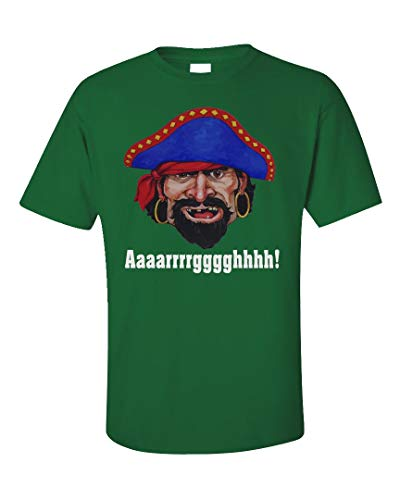 Funny Pirate Argh Design - Unique Gift Ideas - Unisex T-Shirt Irish Green -