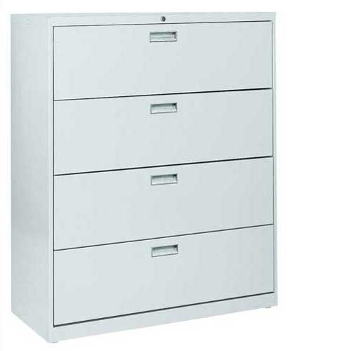 Sandusky Lee LF6A424-05 600 Series 4 Drawer Lateral File Cabinet, 19.25