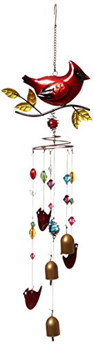 Red Carpet Studios Nature's Jewels Large Wind Chimes, Cardinal