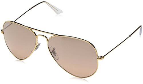 RAY-BAN RB 3025 AVIATOR SUNGLASSES (55 mm, 001/51 ARISTA CRYSTAL/GRADIENT - Gold Ban 55mm Ray Gradient Brown 3025