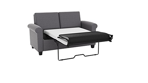 pull out sofa bed. Amazon.com: DHP Premium Sofa Bed, Pull Out Couch, Sleeper With Twin Size Gray Linen Sleeper, Coil Mattress Included, Bed