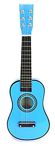 Velocity Toys Acoustic Classic Rock 'N' Roll 6 Stringed Toy Guitar Musical Instrument w/ Guitar Pick, Extra Guitar String (Acoustic Classic)