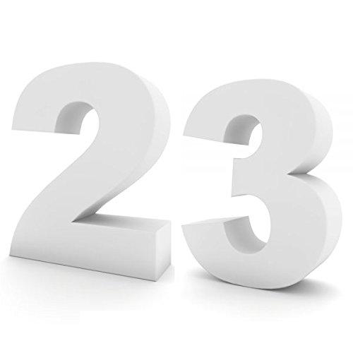 Oedim Números de Cumpleaños en Corcho   20cm de Altura x 10cm de Grosor   Números Fabricados en Corcho Color Blanco   Números de Corcho Elegantes y ...