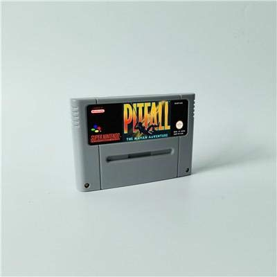 (Game card Pitfall The Mayan Adventure - Action Game Cartridge EUR Version ,Game Cartridge 16 Bit SNES , cartridge snes , cartridge super)