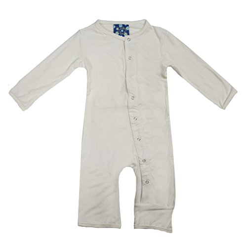 KicKee Pants Basic Coverall- Unisex Baby, Natural, 6-12 Months