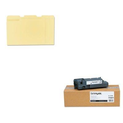 KITLEXC52025XUNV12113 - Value Kit - Lexmark Waste Toner Box for C520/C522/C524 (LEXC52025X) and Universal File Folders (UNV12113) (C522 C520n C524 Toner Waste)