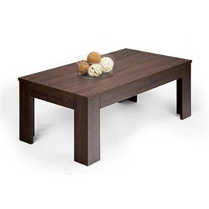 Mobili Fiver Easy, Tavolino da Salotto, Legno, Rovere Moro, 100x55x40 cm