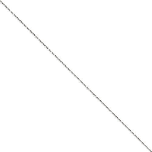 """Or blanc 14 carats 1,2 mm chaîne de blé-Parure de Cheville Bracelet - 10 """"- JewelryWeb"""