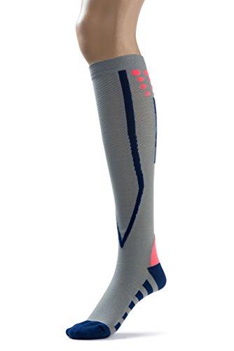 Silky Toes Compression Socks for Men & Women (20-30 mmHg) Athletic Fit for Running, Nurses, Shin Splints, Flight Travel & Maternity Pregnancy (Multi Pack- Grey/Blue/Black, Medium) by Silky Toes (Image #3)