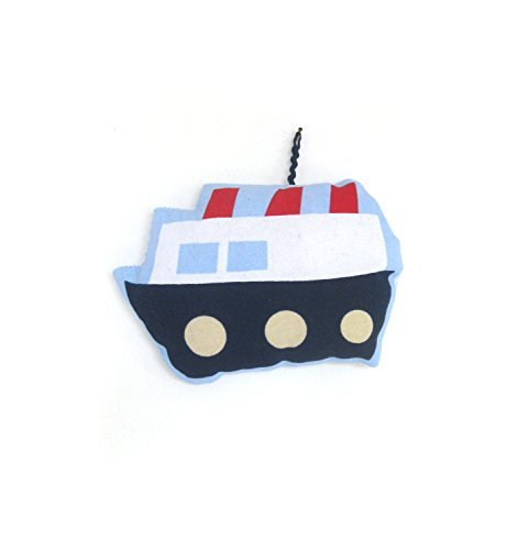 Plush Boat, Decorative Pillow, Ship Plush Pillow, Nautical Nursery, Soft Toy for Babies