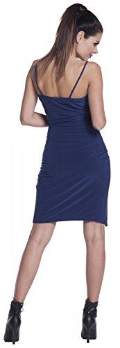Zeta Ville -Vestido sedoso de tirantes dobladillo asimétrico - para mujer - 234z Armada