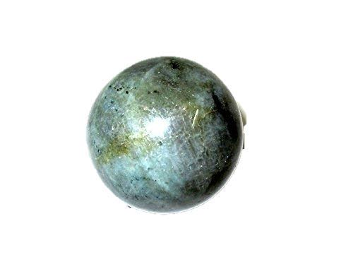 Jet New Natural Labradorite 45-50 mm Ball Sphere Gemstone A+ Hand Carved Crystal Altar Healing Devotional Focus Spiritual Chakra Cleansing Metaphysical ()