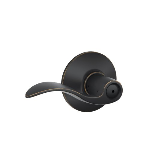 Schlage F40VACC716 Accent Privacy Lever, Aged Bronze