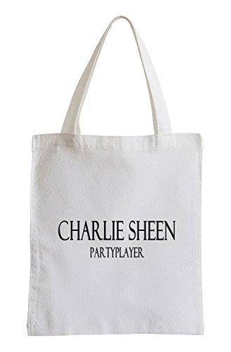Charlie Sheen Partyplayer Fun Fun Jutebeutel