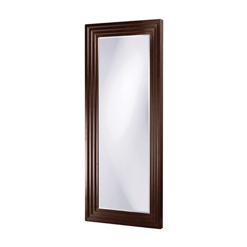 MyEasyShopping Oversized Full Length Floor Mirror with Espresso Wood Frame Mirror Floor Wood Frame Full Length Standing Finish Framed Wall Cheval -