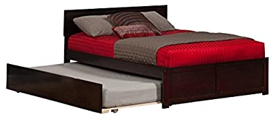 Atlantic Furniture Orlando Flat Panel Foot Board with Urban Trundle Bed