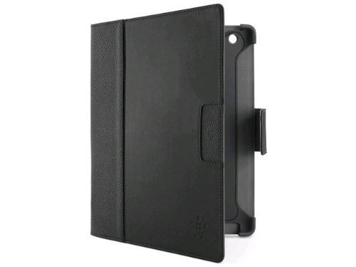 Belkin Cinema Leather Folio Case / Cover with Stand for the New Apple iPad with Retina Display (4th Generation) & iPad 3 and iPad 2 (Black)