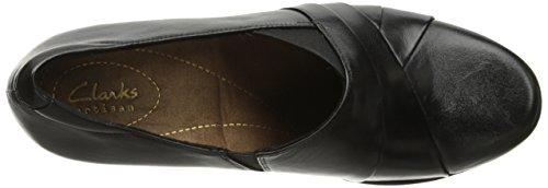 Clarks Womens Rosalyn Adele Slip-On Loafer Black Leather