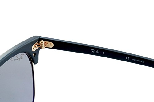 ray ban sunglasses made in china  Ray-Ban 3016 901SP2 Matte Black 3016 Clubmaster Wayfarer ...