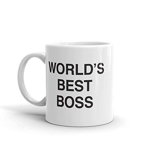 Coffee Mug With Dunder Mifflin, Unop Dunder Mifflin The Office-World's Best Boss-11 oz Funny Ceramic Coffee/Tea/Cocoa Mug-Unique Coffee Cup&Present Idea for Male/Female/Bosses/Coworkers