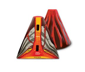 Cross Section Volcano - Cross-Section Volcano Model;Teach the names and functions of major parts of a volcano
