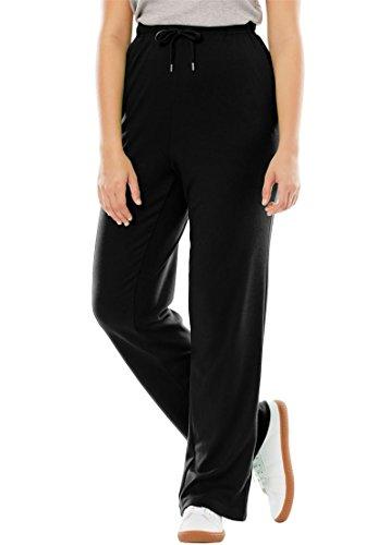 Women's Plus Size Petite Sport Knit Pants With Drawstring Elastic Waist Classic Knit Sweatpants