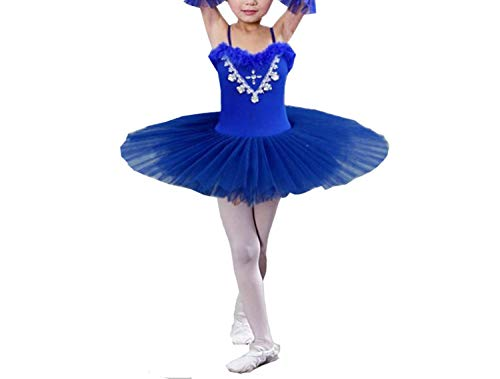 Diamond Ballet Dress Children Swan Lake Ballet Costume Girls Tutu Ballet Leotard Dancewear Ballet Costumes Kids,white,L(130-140cm)