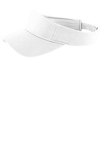 Sport-Tek PosiCharge RacerMesh Visor STC27, White, One Size]()