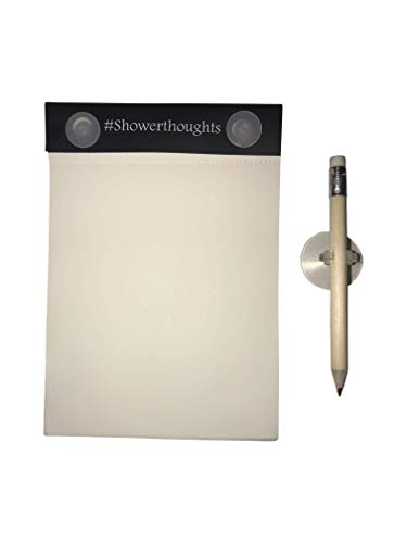 Waterproof Notepad - Shower Notebook with Pencil for Taking Notes in the Shower/Rain - Aqua Notes with All Weather Paper #ShowerThoughts ()