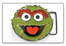 Sesame Street Oscar the Grouch Face Belt Buckle