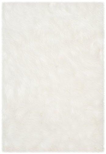Acrylic Contemporary Rug (Safavieh Faux Silky Sheepskin FSS235A Ivory Area Shag Rug (3' x 5'))