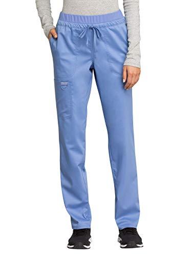 Cherokee WW Revolution WW105 Mid Rise Tapered Leg Drawstring Pant Ciel Blue S (Ciel Blue Scrubs)