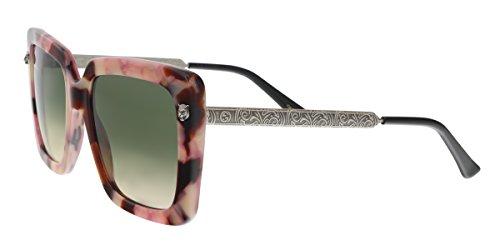 GUCCI GG0216S 005 Rose/Amber Oversized Square - Sunglasses Gucci Oversized Square