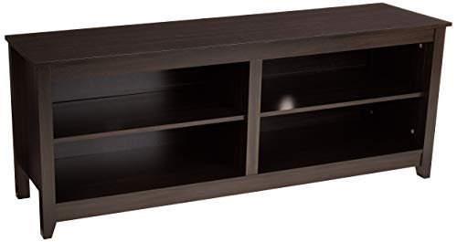 AmazonBasics Classic Wood Entertainment TV Stand with Storage Console - 58 Inch, Cappuccino