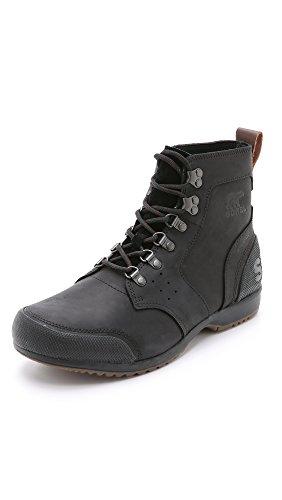 Sorel Men's Ankeny Mid Hiker Boots, Black/Tobacco, 7 M US