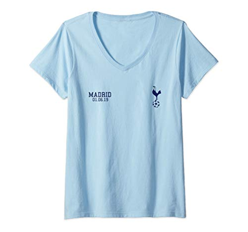 Womens Spurs Soccer Jersey Tottenham European Gift North London V-Neck T-Shirt