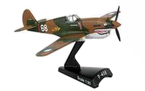 Postage Stamp Planes - Daron Worldwide Trading P-40 Warhawk Hell's Angels 1:90 Vehicle