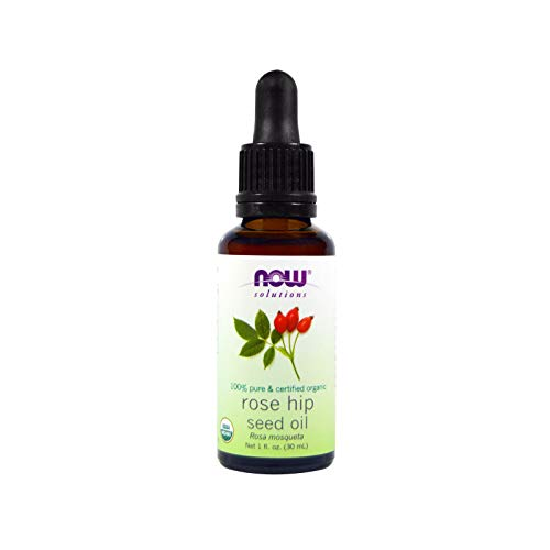 Now Essential Oils, Organic Rose Hip Seed Oil, Certified Organic and 100% Pure, for Facial Care, Expeller Pressed, Vegan, 1-Ounce