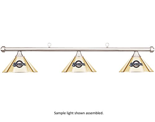 Imperial MLB Milwaukee Brewers Burgundy Metal Shade/Chrome Bar Billiard Pool Table Light (Pool Milwaukee Brewers)
