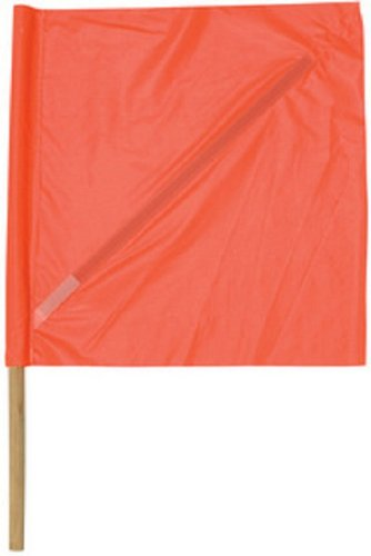 Safety Flag SFP24-36 24-Inch  Vinyl Safety Flags with Dowel, Red/Orange by Safety Flag