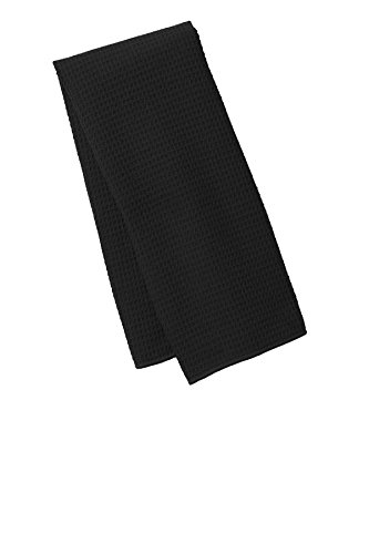 Port Authority Men's Waffle Microfiber Fitness Towel OSFA Black