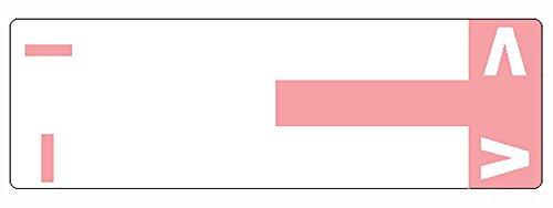 Smead AlphaZ NCC Color-Coded Label, I&V, Label Sheet, Pink, 100 per Pack (67160)