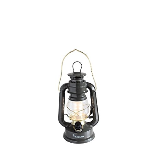 Time Concept Vacances Standard LED Lantern - Khaki - Retro Style Camping Lamp, Indoor/Outdoor, Battery-Operated Light]()