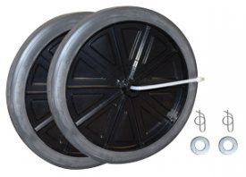 Rubbermaid 9W71-L2 Wheel Kit for Mega BRUTE Mobile Waste ()