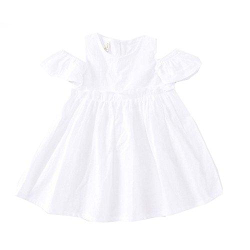 Girls Summer Toddler Pure High Waist Cold Shoulder Dresses (No.4, (Doc Mcstuffins Halloween Special)