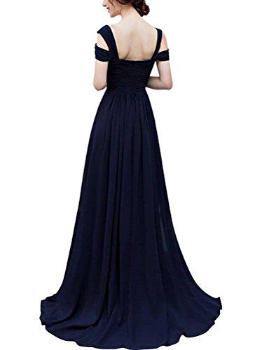 Vickyben Damen A-linie V-Ausschnitt Ab Schulter Split Chiffon Abendkleider Brautjugnfernkleid Party Kleid Ballkleid Lisa wW7hm1mb0