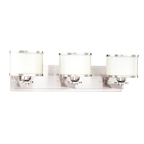 Hudson Valley Lighting 6103-PN Three Light Bath Bracket from the Basking Ridge collection 3, Polished Nickel