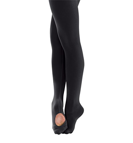 (Body Wrappers Mesh Back Seam Convertible Tights, Black,)