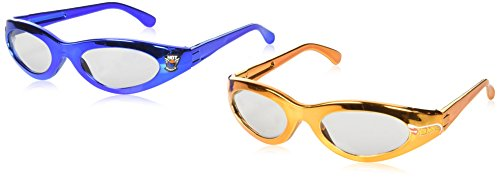 amscan Fast Riding Hot Wheels Wild Racer Birthday Party Glasses Favours, Orange, Blue, Plastic, 4 3/4
