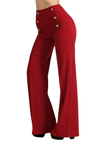 J. LOVNY Womens Sailor Bell Bottom High Waist Long Pants Made in USA S-3XL